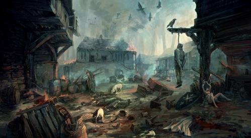 Flotsam, in ruins after the tension between humans-nonhumans break.