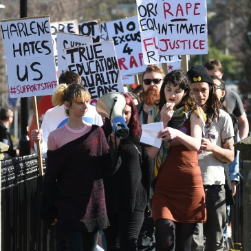 Students Against Sexual Violence Protest at the University of Otago 2017